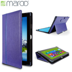 Maroo Leather Folio Case for Surface Pro 2 / Pro - Power Purple