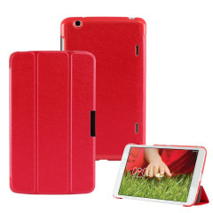 Stand and Type Folio Case for LG G Pad 8.3 - Red