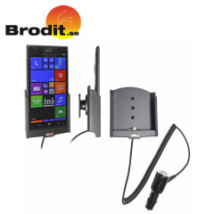 Charge and use your Nokia Lumia 1520 safely in your vehicle with this Brodit Active Holder with Tilt Swivel.