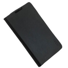 Stand and Type Folio Case for Wiko Cink Five - Black