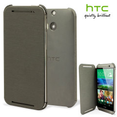 Original HTC One M8 / M8s Flip Hülle in Grau