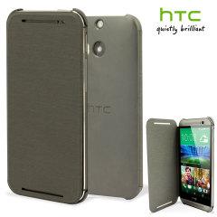 Funda Oficial con Tapa para el HTC One M8 - Gris