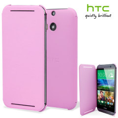 Original HTC One M8 Flip Hülle in Pink