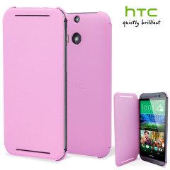 Funda Oficial con Tapa para el HTC One M8 - Rosa