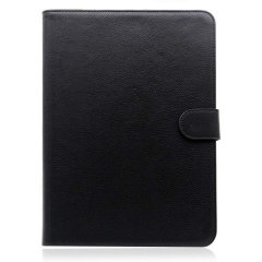"This PlayFect Leather-Style Case in black provides all round protection for your 9-10"" Android or Apple tablet. Featuring a built-in media viewing, in addition a strong magnetic strap for safe portability."