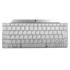 Mini Wireless Bluetooth Keyboard - Silver / White