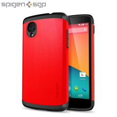 Spigen Slim Armor Case for Google Nexus 5 - Red