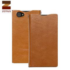 Zenus Signature Diary Case Xperia Z1 Compact Ledertasche Sand Beige
