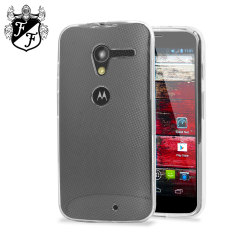 Crystal case like protection with the durability of a silicone case for the Moto X. This case is 100% clear, preserving all the great style of your Moto X.