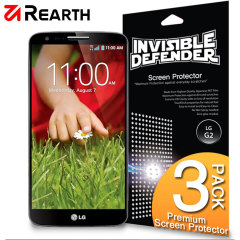 3 pack of multi-layered optical enhanced screen protectors for the LG G2.
