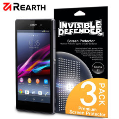 Rearth Invisible Defender 3 Pack Screen Protector for Xperia Z1