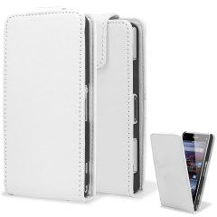 Qubits FlipCase Xperia Z1 Compact Tasche in Weiß