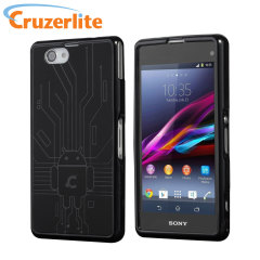 Keep your Sony Xperia Z1 Compact protected from damage with this Android-circuitry inspired, durable black coloured TPU case by Cruzerlite.