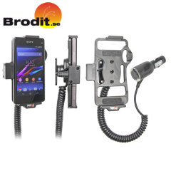 Charge and use your Sony Xperia Z1 Compact in your vehicle with this Brodit active holder with tilt swivel.