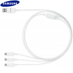Official Samsung Micro USB Multi Charging Cable - White