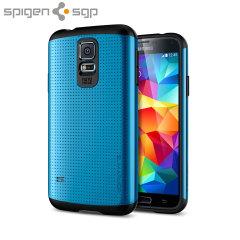 Coque Samsung Galaxy S5 Spigen SGP Slim Armor – Bleue