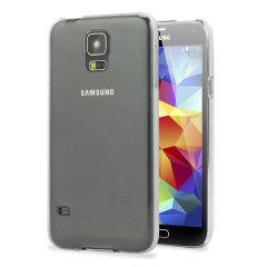 Custodia a guscio in policarbonato per Samsung Galaxy S5 - Trasparente
