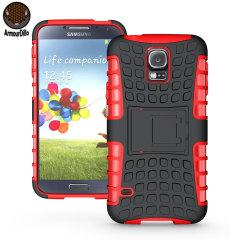 Funda para el Samsung Galaxy S5 ArmourDillo Hybrid Protective - Roja