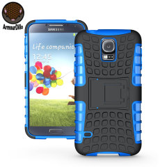 Protect your Samsung Galaxy S5 with this blue ArmourDillo Case, comprised of an inner TPU case and an outer impact resistant exoskeleton.