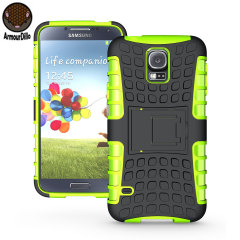 Protect your Samsung Galaxy S5 with this green ArmourDillo Case, comprised of an inner TPU case and an outer impact resistant exoskeleton.