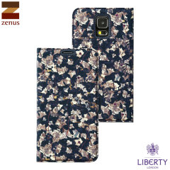 Zenus Liberty of London Diary Galaxy S5 Hülle in Navy Ivy