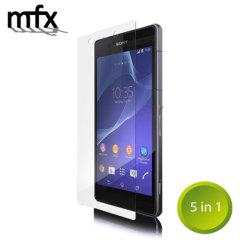 Keep your Sony Xperia Z2's screen in pristine condition with this 5 pack of MFX scratch-resistant screen protectors.