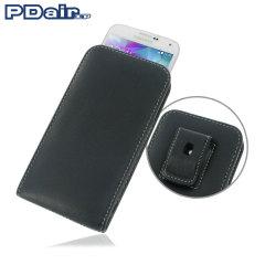 Custodia verticale in pelle PDair con clip da cintura per Samsung Galaxy S5