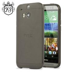 Funda FlexiShield Skin para el HTC One M8 - Negra Ahumada