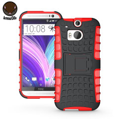 Coque HTC One M8 Armourdillo Hybrid – Rouge