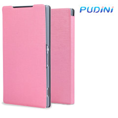 Pudini Leather Style Flip Case Xperia Z2 Tasche in Pink