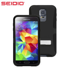 Seidio DILEX Samsung Galaxy S5 Case with Kickstand and Holster - Black