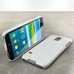 Galaxy S5 Hülle Glitter Case in Silber