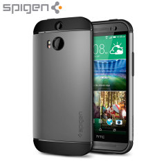 Custodia Slim Armor Spigen SGP per HTC One M8 - Gun Metal