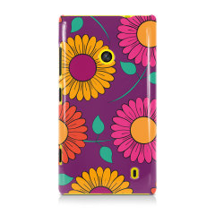 Gerbera Garden Dark Nokia Lumia 520 / 525 Hard Back Case - Floral