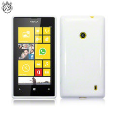 FlexiShield Nokia Lumia 525 / 520 Gel Case - White