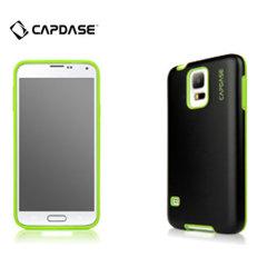 Capdase Vika Soft Jacket Samsung Galaxy S5 Case - Black / Green