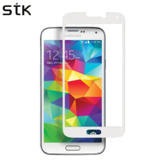 STK Samsung Galaxy S5 Tempered Glass Screen Protector - White