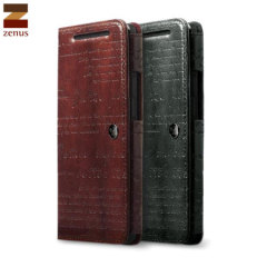 Zenus Lettering Diary Case HTC One M8 Ledertasche Schwarz
