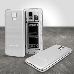 Replacement Aluminium Metal Samsung Galaxy S5 Back Cover - Silver