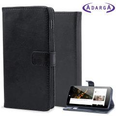 Adarga Wallet Nexus 5 Stand Case with Smart Function  - Black