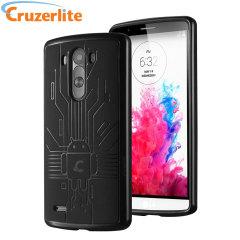 Coque LG G3 Cruzerlite Circuit Bugdroid - Noire