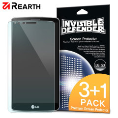 3 pack of multi-layered optical enhanced screen protectors for the LG G3.