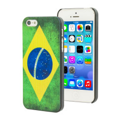 Custodia World Cup Flag per iPhone 5S / 5 - Brasile