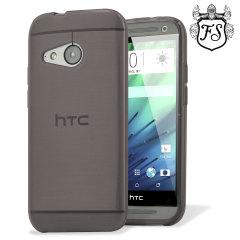 FlexiShield HTC One Mini 2 Gel Case - Smoke Black