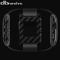 dbrand Pebble Smartwatch Skin und Displayschutz Black Carbon