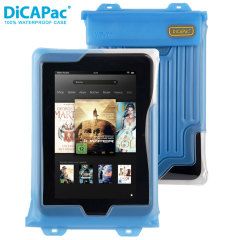 The DiCAPac Universal Waterproof Case for Tablets in blue is a protective case providing 100% tablet waterproofing and touchscreen operation up to a size of 8 inches for activities that require near water or even underwater adventures.