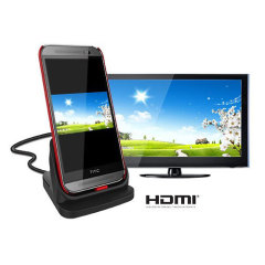 HTC One M8 Ultra-thin Case Compatible HDMI Oplaaddock