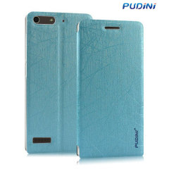 The Pudini Flip and Stand Case in blue offers high protection for your Huawei Ascend G6. It provides a perfect fit and stylish design as well as a built-in stand for viewing media or web browsing.