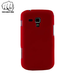 A protective and slimline shell case in red by ToughGuard for your Samsung Galaxy Trend Plus.
