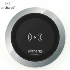 Wirelessly charge any Qi supported smartphone from your desk, meeting table or other worksurface with this convenient and stylish aircharge Qi Wireless Surface Charger in aluminium.